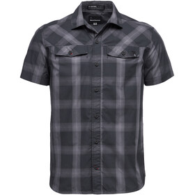 Black Diamond Benchmark Blouse korte mouwen Heren, black-anthracite-carbon plaid